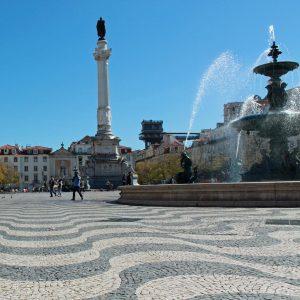Platz im Zentrum von Lissabon.
