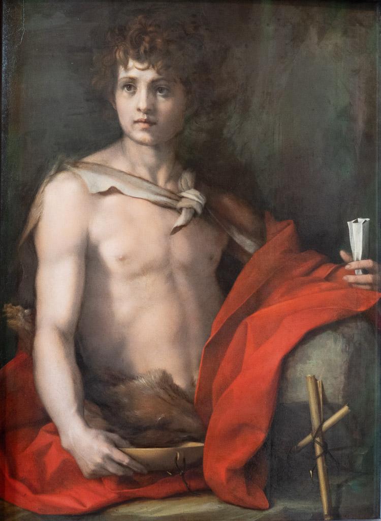 Johannes der Täufer von Andrea del Sarto im Palazzo Pitti in Florenz.