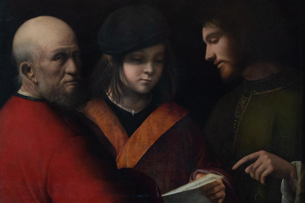 Die drei Lebensalter, Gemälde von Giorgione in der Galleria Palatina.