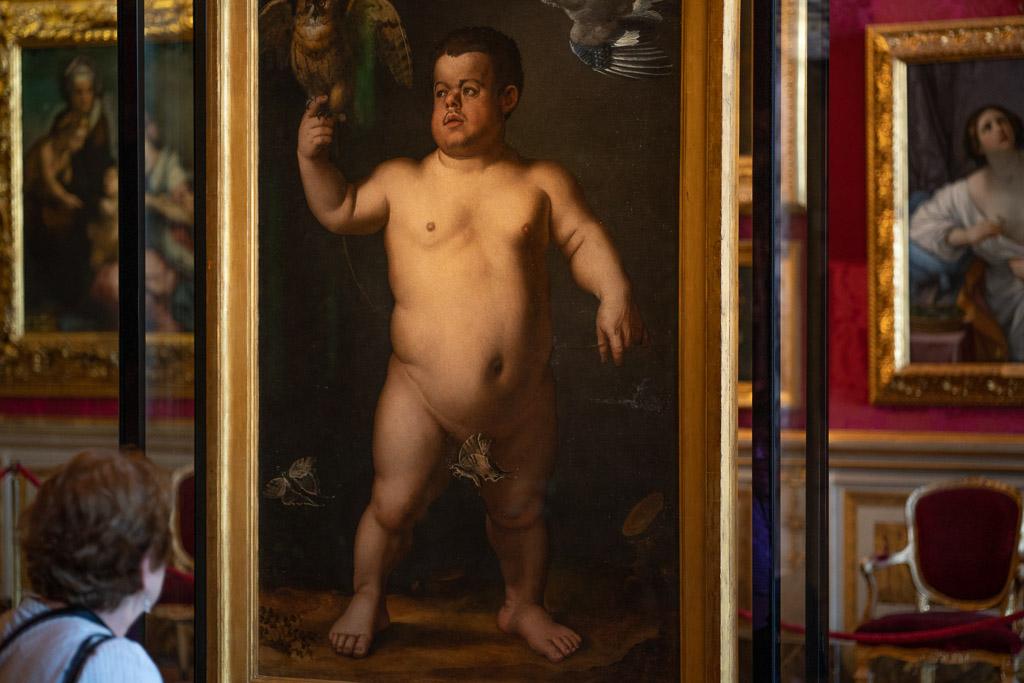 Porträt des Zwerg Morgante in der Galleria Palatina in Florenz.