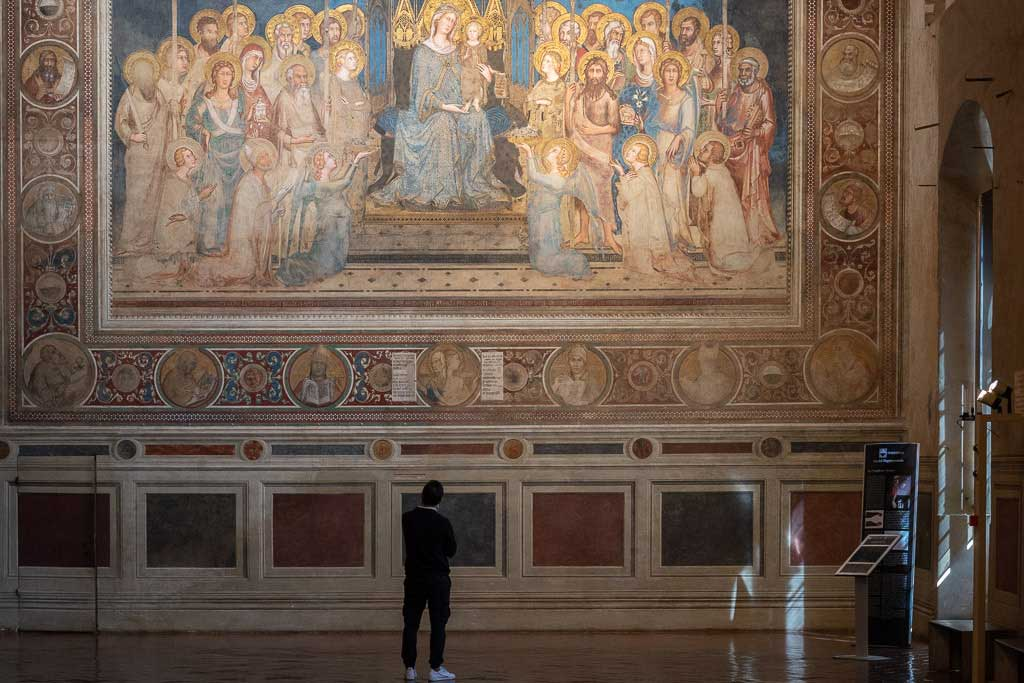 Marienbild von Simone Martini im Palazzo Pubblico.