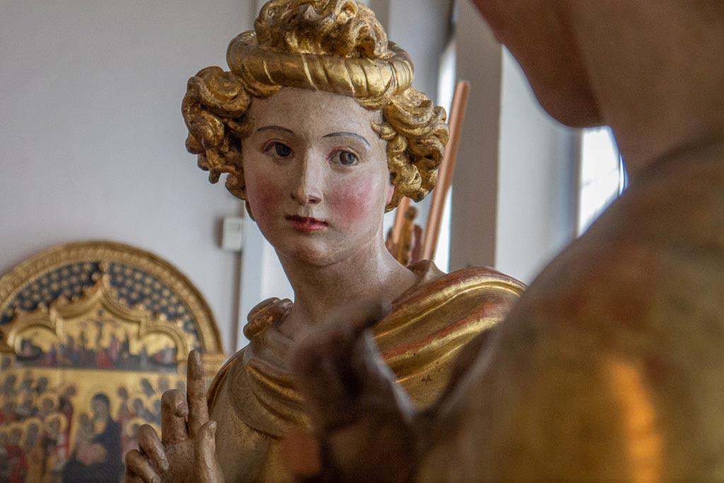 Der Erzengel Gabriel von Jacopo della Quercia.
