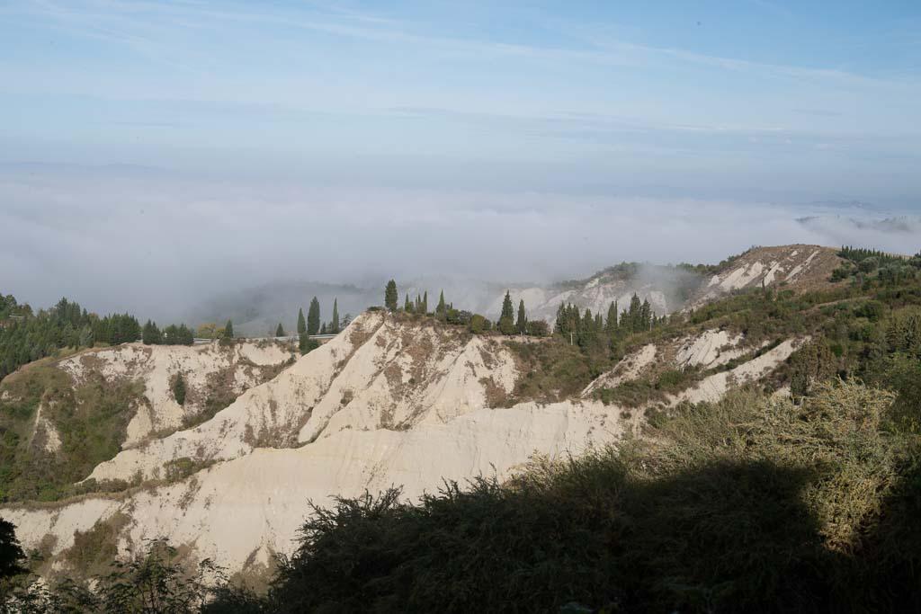 Die Biancane, Erosionen in der Crete Senesi.