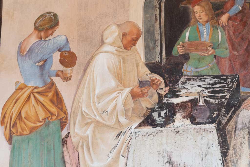 Malerei von Luca Signorelli in Monte Oliveto Maggiore.
