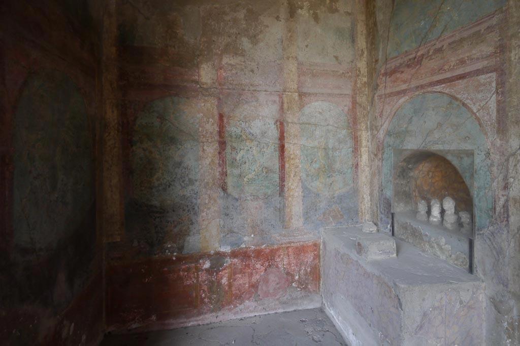 Lararium im Haus des Menanders in den Pompeji Ausgrabungen.