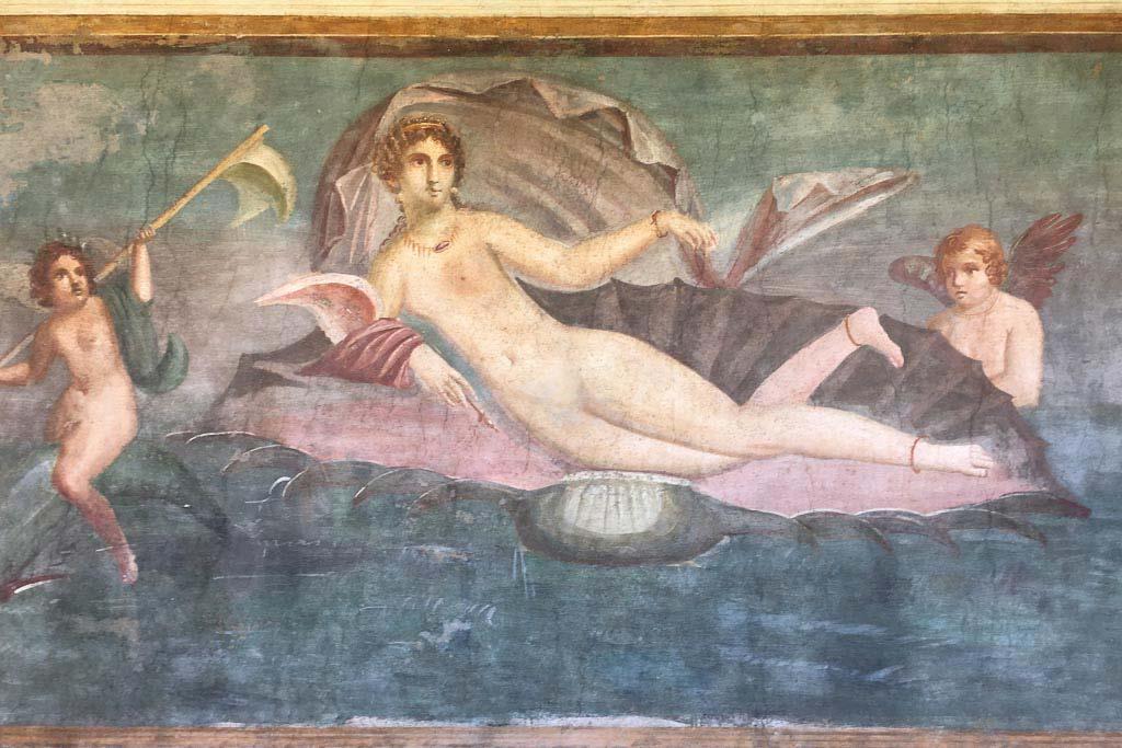 Wandmalerei aus dem Haus der Venus in der Muschel.