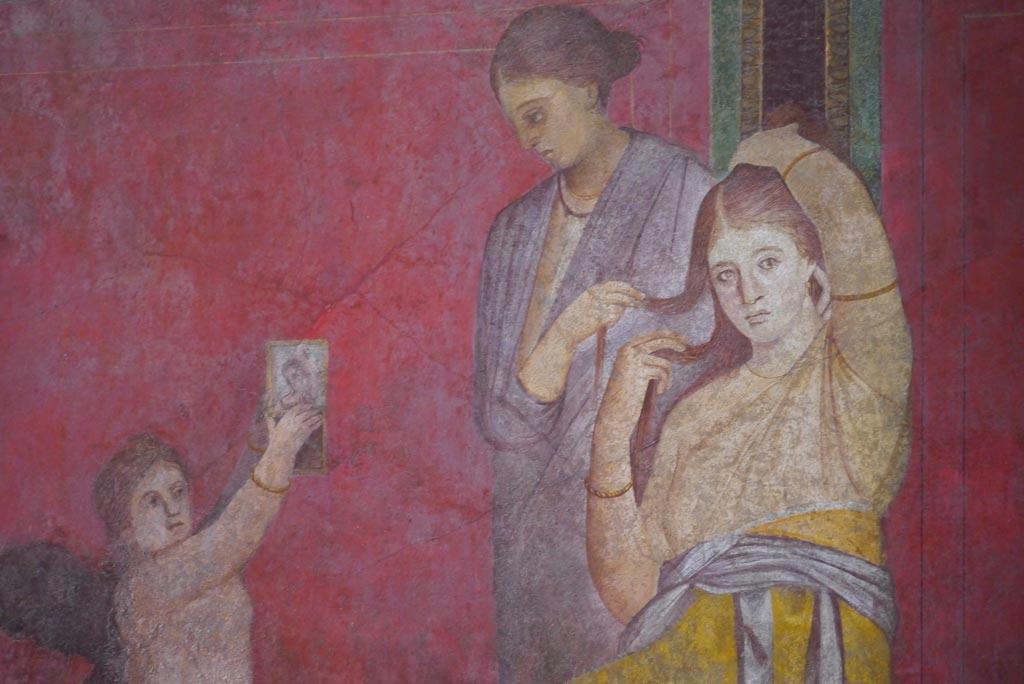 Wandmalerei aus der Villa dei Misteri in Pompeji.
