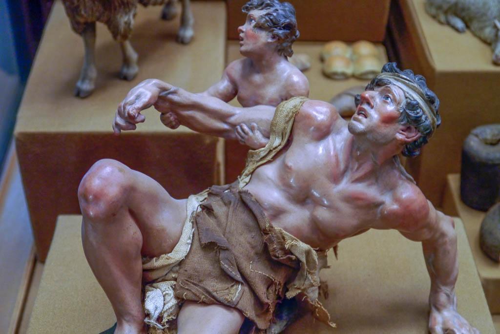 Krippenfigur aus dem Museum San Martino.