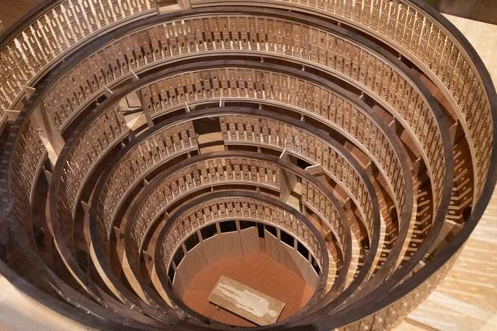 Modell des anatomischen Theaters im Palazzo Bo der Universität.