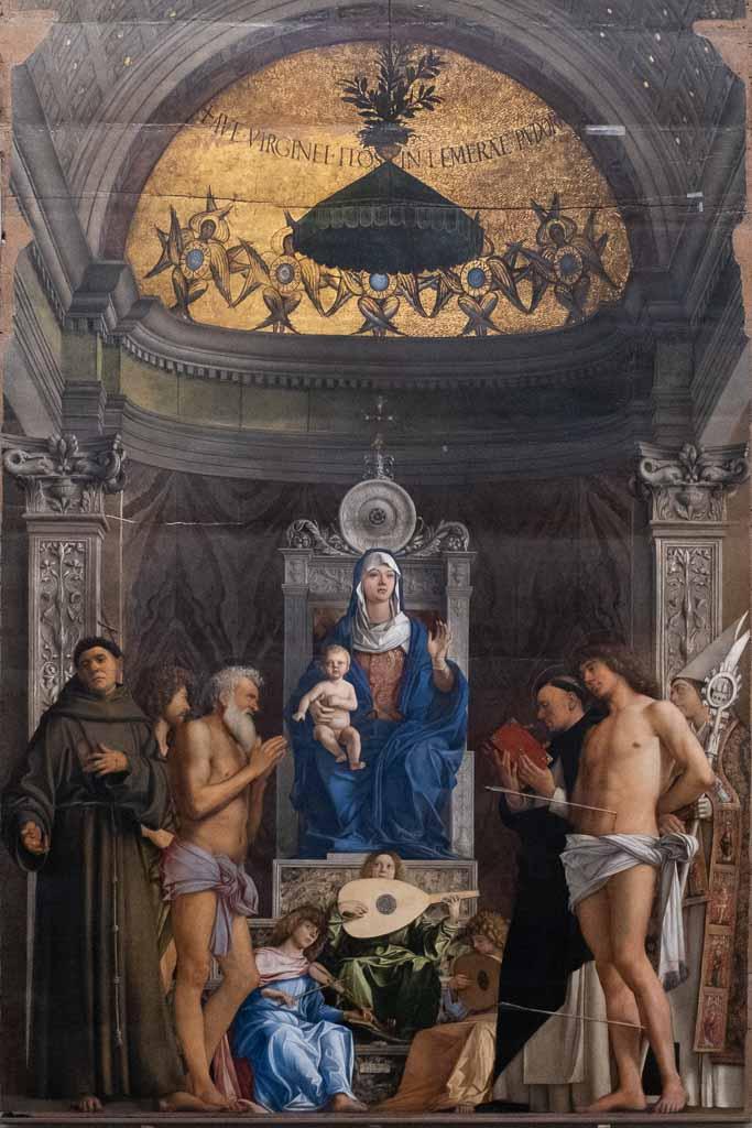 Altarbild Giovanni Bellinis in der Accademia Venedig.