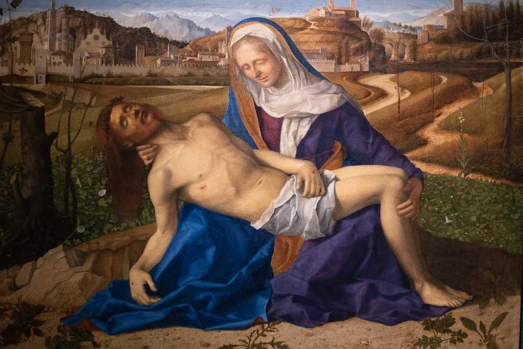 Gemälde von Giovanni Bellini mit der Pieta.