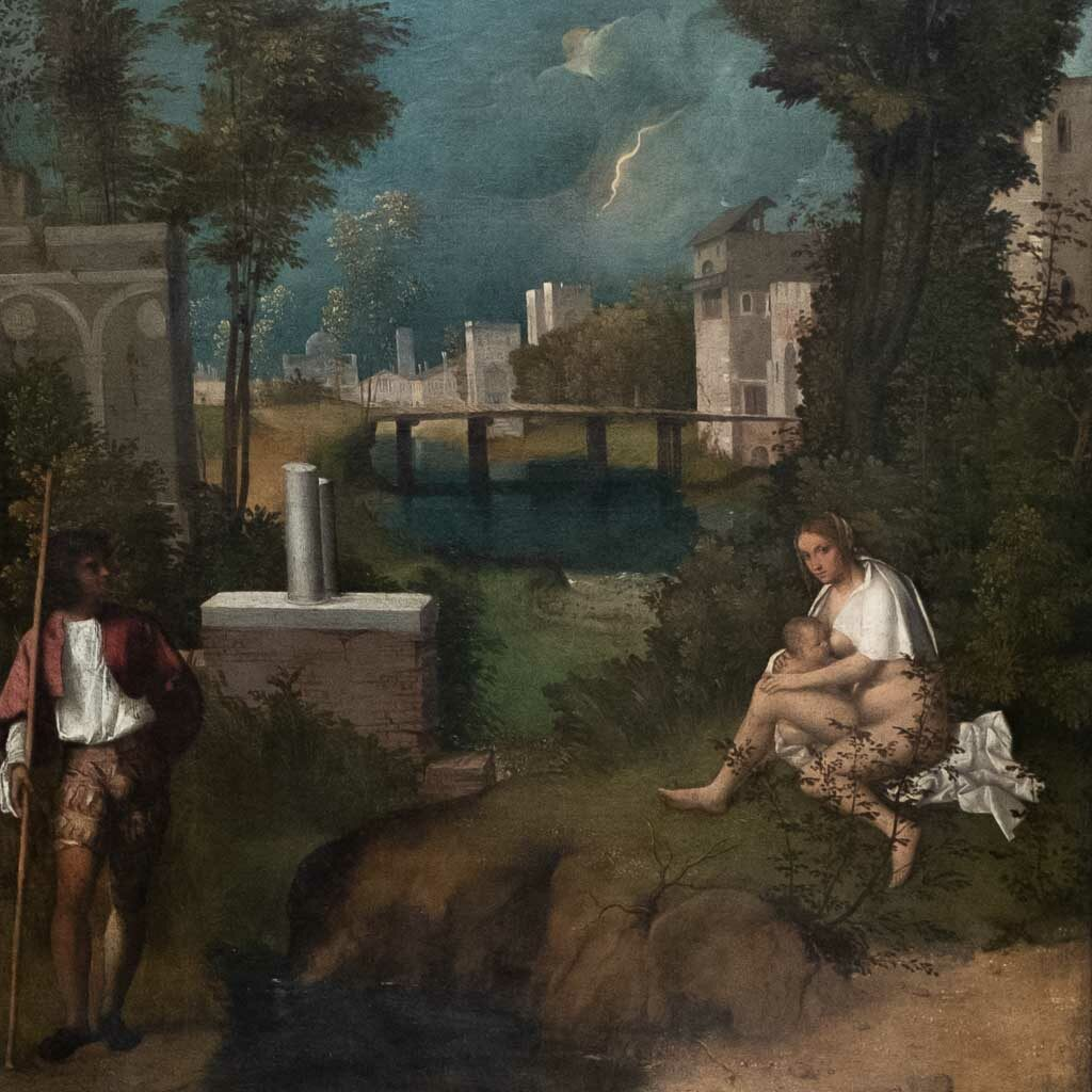 Das Gewitter in einem Gemälde von Giorgione.