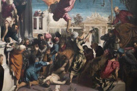 Gemälde Tintorettos in der Galleria dell' Accademia in Venedig.