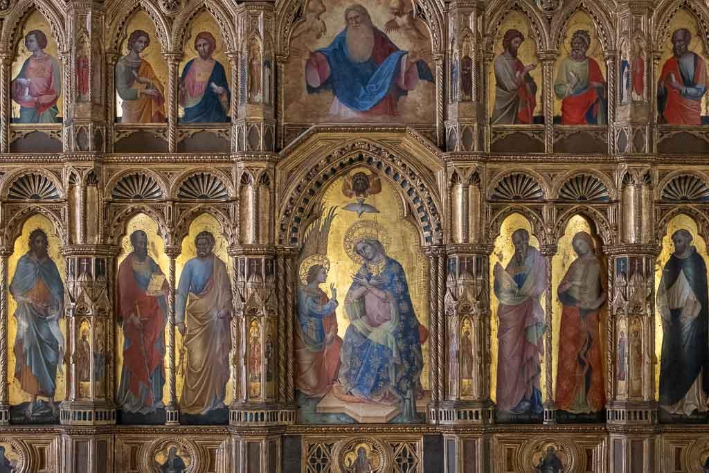 Gotisches Altarbild in der Galleria dell Accademia in Venedig.