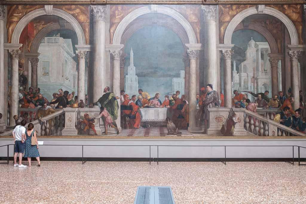 Gemälde von Veronese in der Gemäldegalerie von Venedig.